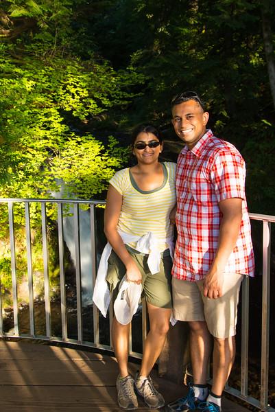 Bhumisha and me at the top of Multnomah Falls