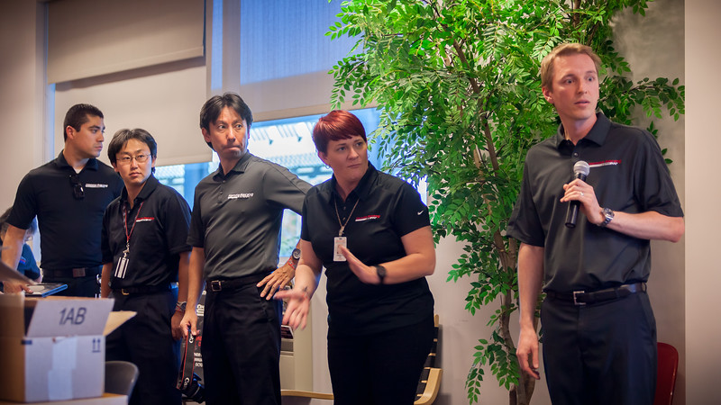 Our HPD hosts introduce themselves.  From left-to-right:  Julian, Hiro, Uwe, Cheralyn, and Kevin