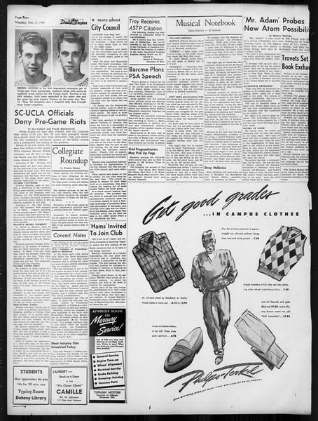 Daily Trojan, Vol. 38, No. 54, December 02, 1946