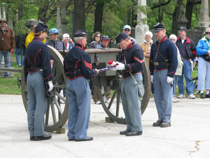 Folding of the flag: Sergeant Robert Manski & Sergeant Hauff
