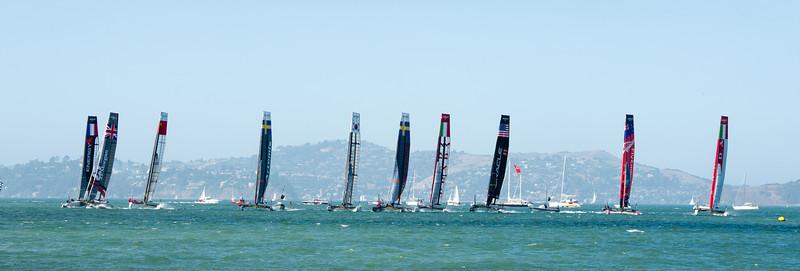 Americas Cup pre-races 8-24-2012