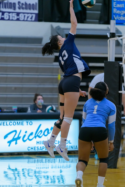 2021-04-12 Indian River vs Hickory Girls Volleyball