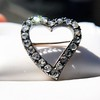 Victorian Rose Cut Witches Heart Pin 10