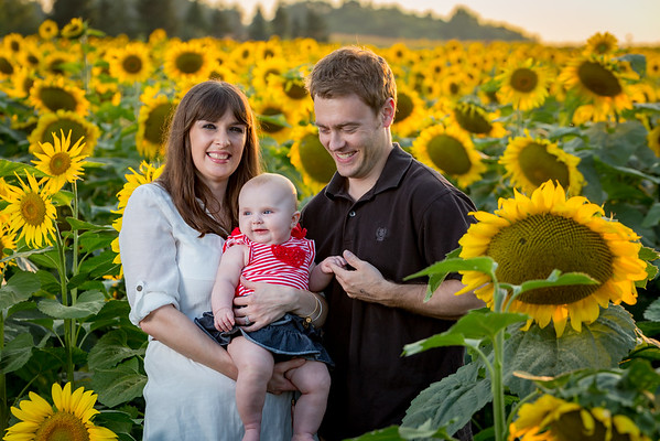 Ashley Jimmy and Jayla in the Sunflowers