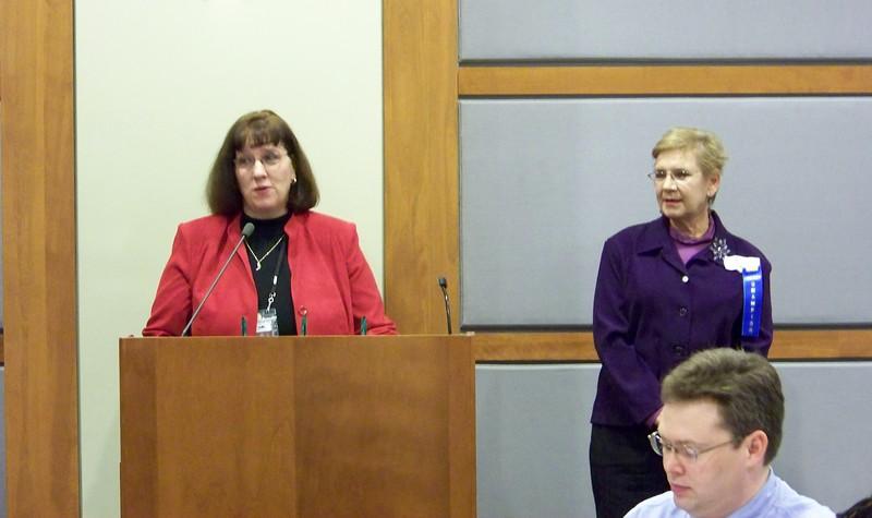 Deborah Fout introducing Linda Cook.jpg