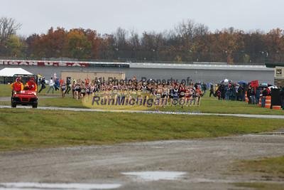 400 Meters, D4 Girls - 2013 MHSAA LP XC Finals