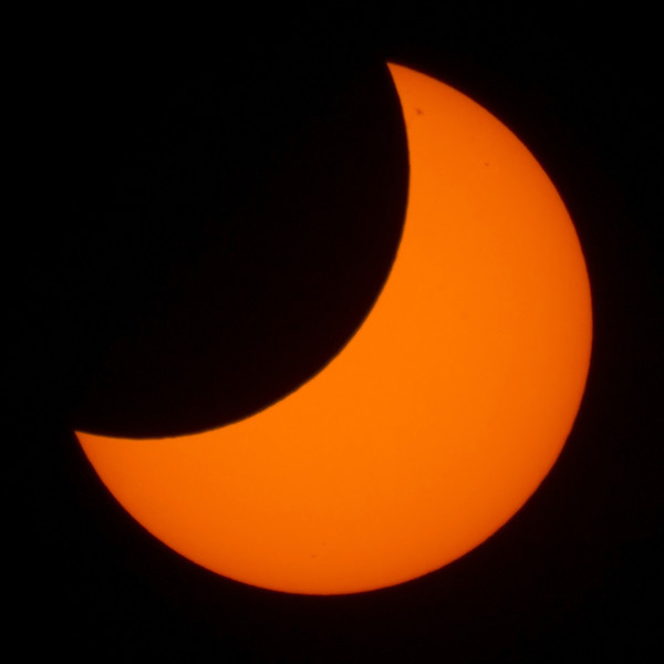 Partial Solar Eclipse - 29/4/2014 (Processed cropped image)