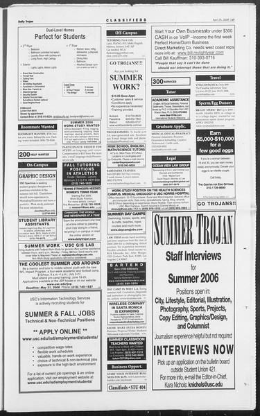 Daily Trojan, Vol. 157, No. 65, April 25, 2006