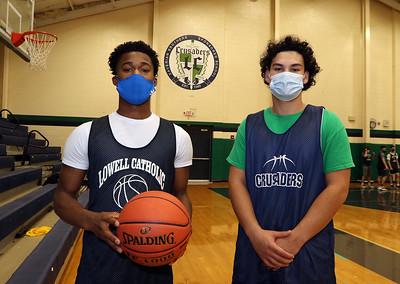 Lowell Catholic basketball seniors 011921
