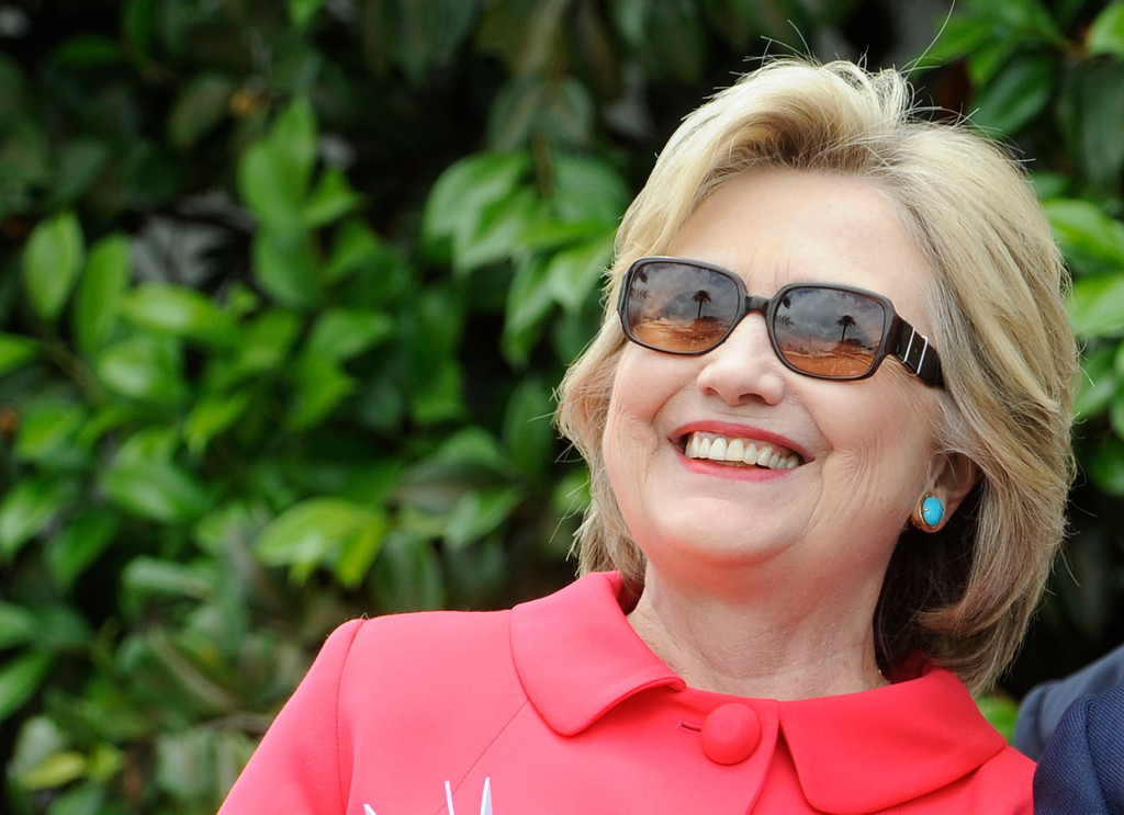 . Democratic presidential candidate Hillary Clinton during the Loyola Marymount 2016 Commencement on the campus of Loyola Marymount University on Saturday, May 7, 2016 in Los Angeles.    (Photo by Libby Cline)