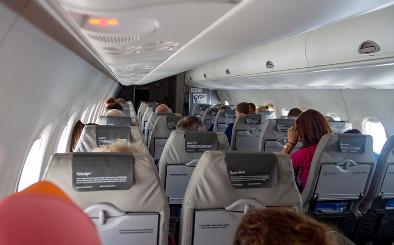 Cabin of the Bombardier Dash 8
