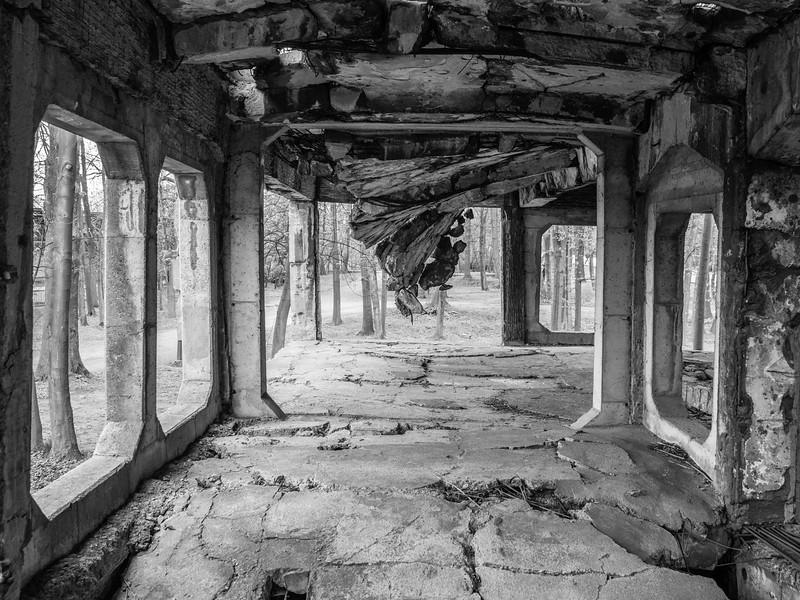 Destruction of Man by Man Westerplatte