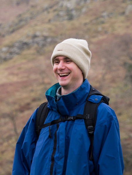 Tim smiles