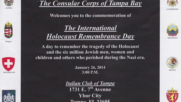International  Holocaust  Remembrance  Day  Jan. 26, 2014