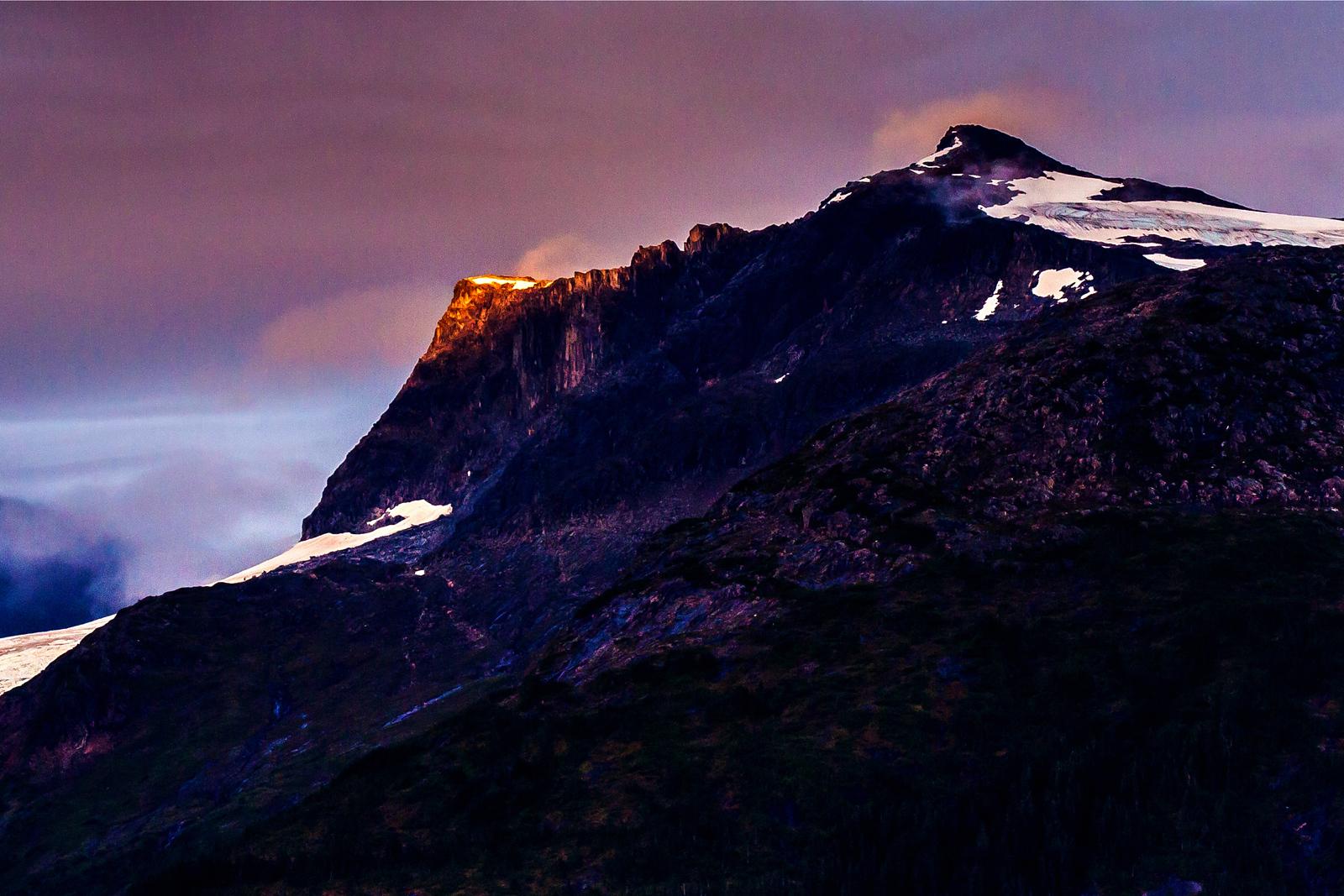 阿拉斯加,冰山上的奇景