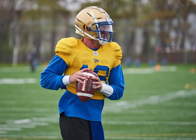 #18 Bryan Bennett during Winnipeg Blue Bombers rookie camp Wednesday May 15, 2019.