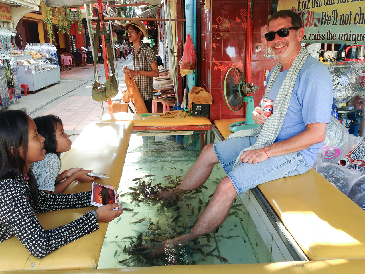 Fish Pedicure in Siem Reap, Cambodia