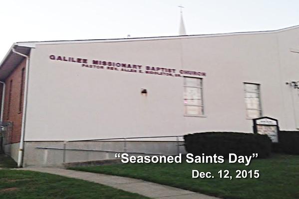 """Seasoned Saints Day"" at Galilee Missionary Baptist Church - Cincinnati, OH - Dec. 12, 2015"