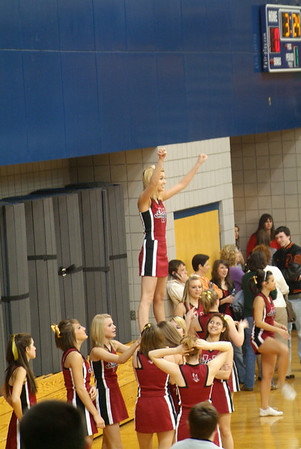 Shelby Cheering @ Weatherford Basketball Game