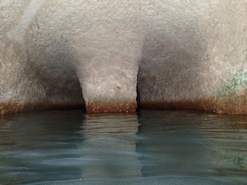 Underground Caverns in an underground river. X-Caret Mexico.