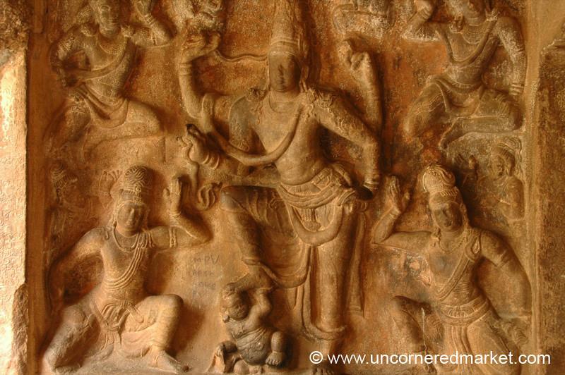 Hindu Bas Relief