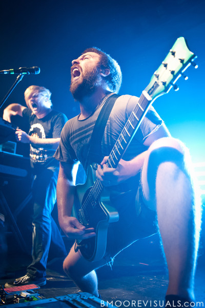 Christopher Dudley and Timothy McTague of Underoath perform in support of Ø (Disambiguation) on November 26, 2010 at The Ritz in Ybor City, Tampa, Florida