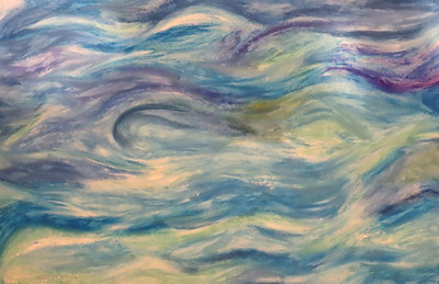 """""""Vast"""" (oil pastel) by Mary Gholami"""
