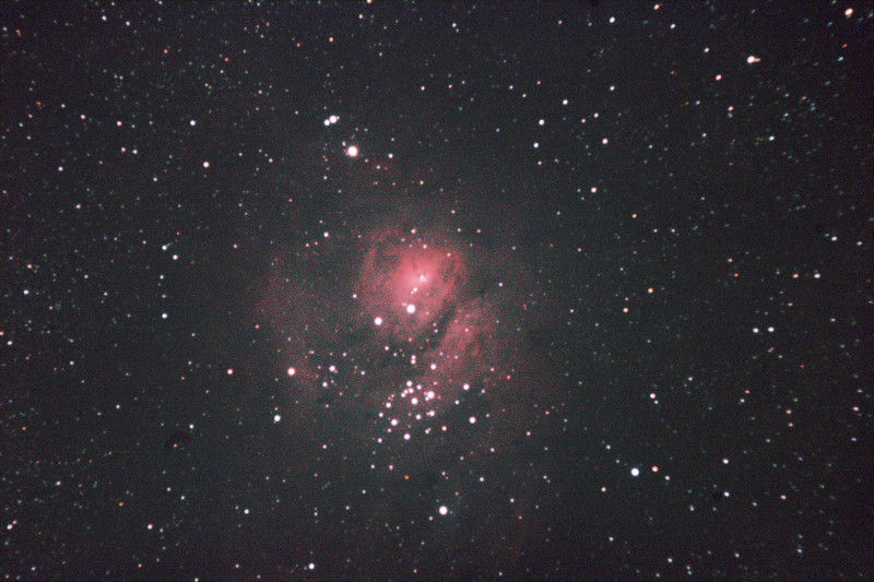 Messier M8 - NGC6523 - Lagoon Nebula and Cluster - 8/3/2011 (Processed single powermate test image)