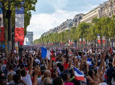 Fussball WM-Finale in Paris 15.7.2018