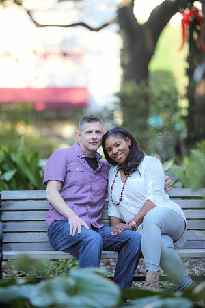Mike and Lakiesha's Engagement Session in Savannah, Georgia