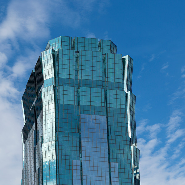 Low angle view of the AT&T Tower at Downtown Minneapolis, Hennepin County, Minnesota, USA