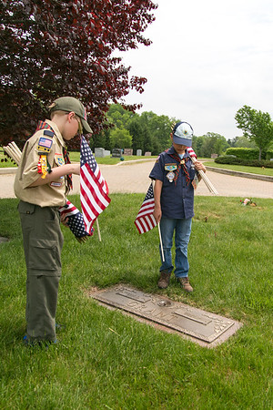 Memorial Day Flag Planting - 2015