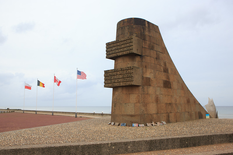 Omaha Beach Memorial to Allied Forces