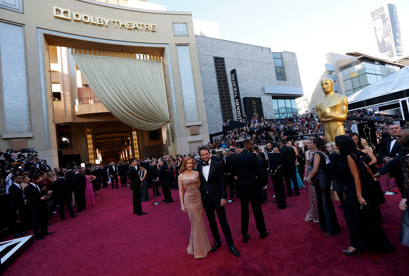 """. Jessica Chastain, best actress nominee for her role in \""""Zero Dark Thirty\"""" arrives at the 85th Academy Awards in Hollywood, California February 24, 2013.  REUTERS/Adrees Latif"""