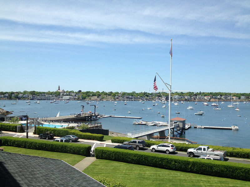 5/18 Marblehead Harbor as seen from my room at Eastern Yacht Club