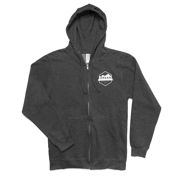 Outdoor Apparel - Organ Mountain Outfitters - Sweater - Midweight Zip Hoodie Charcoal Front.jpg
