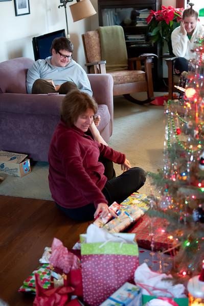 Karen plays Santa.