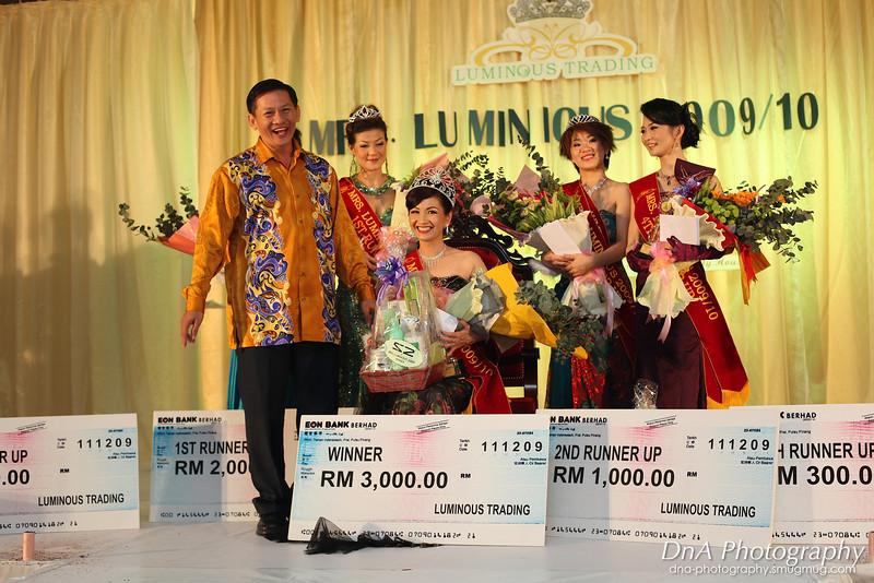 Winners of Mrs. Luminous