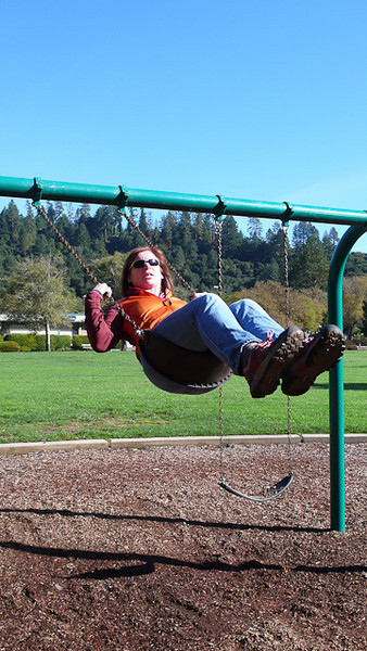 Killing time at a local park while waiting for the zip line tour to start.