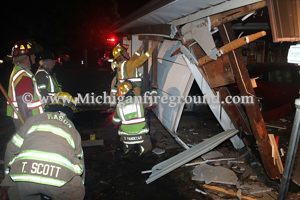 6/5/16 - Mason vehicle  into a structure, 939 Eden Rd