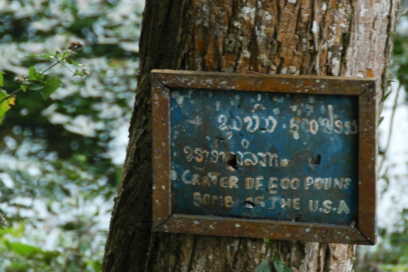 Tree Sign - Nong Khiaw, Laos