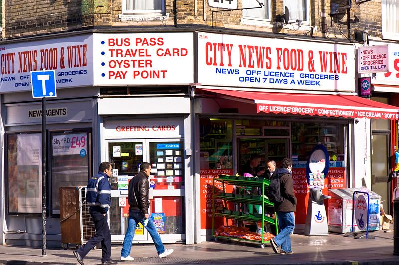 Shops on Uxbridge Road, Shepherds Bush, W12, London, United Kingdom