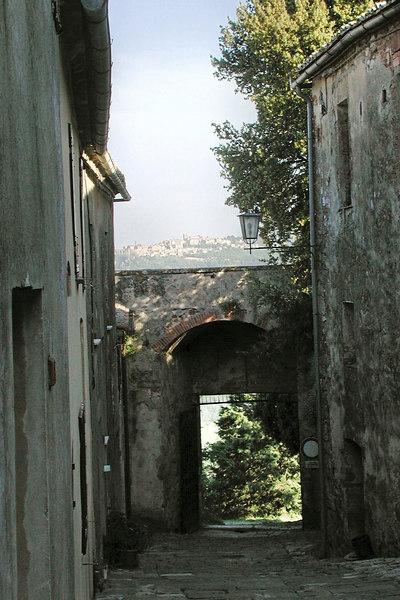 Montepulciano as seen from Montefollonico / Karen Perrin Photo