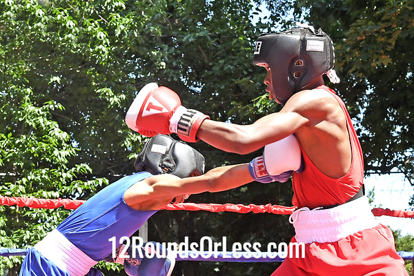 Bout 4 Jyrin Sutton, Blue Gloves, St. Louis, MO -vs- Abdullah Mason, Red Gloves, Cleveland, 95 Lbs