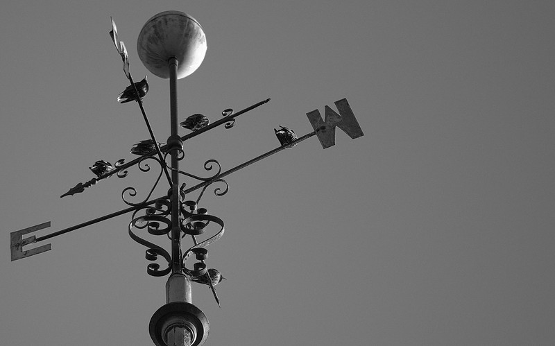 Birds East and West - Weather Vane - Presbyterian Church, Wenonah New Jersey