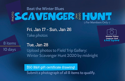 2020 Winter Scavenger Hunt