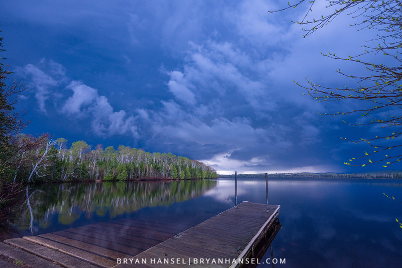 Thunderstorm over Elbow Lake