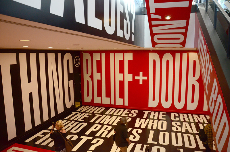Smithsonian Institution Hirshhorn Museum and Sculpture Garden, Barbara Kruger, Belief + Doubt