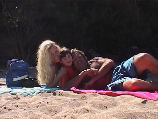 T A & J at beach 2.jpg