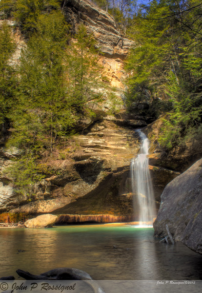Waterfall at Old Man's Cave, Hocking Hills State Park